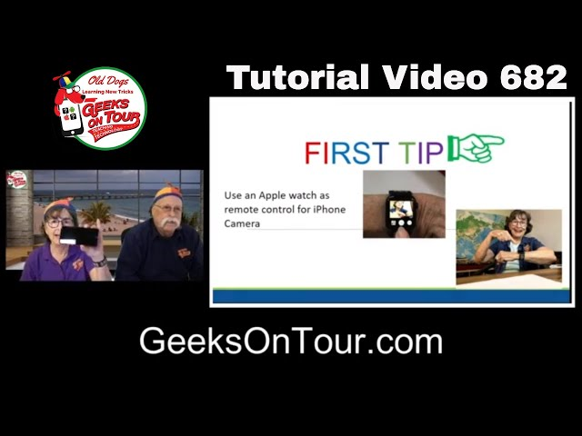 Apple Watch as Remote iPhone Shutter Release -Tutorial Video 682