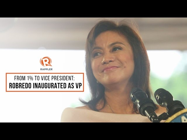 From 1% to Vice President: Robredo inaugurated as VP