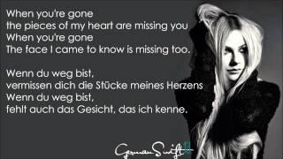 Avril Lavigne - When You're Gone - (Lyrics + Deutsche Übersetzung)