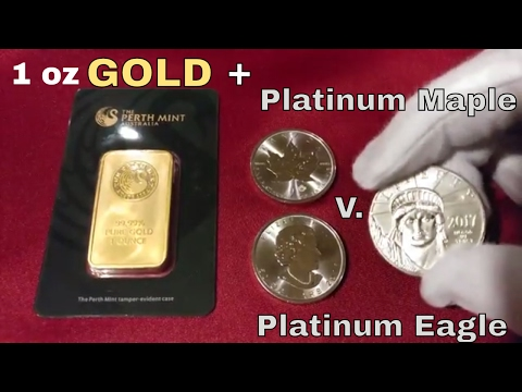 Stack Update - 1 oz Gold bar & 1 oz Platinum Eagle vs Platinum Maple