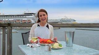 Lobster Eating in Prince Edward Island, Canada