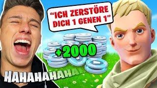 2000 V-Bucks Killduell gegen 11 Jährigen in Fortnite!