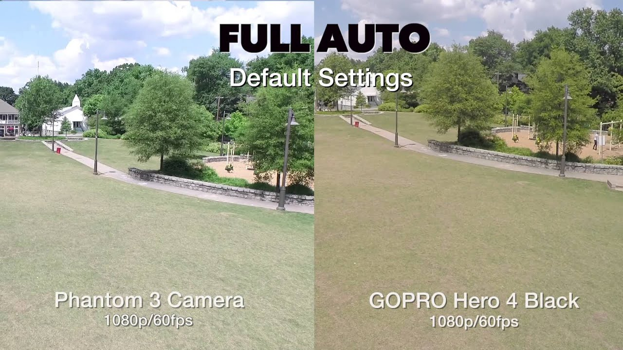Phantom 3 Pro Camera Vs GoPro Hero 4 Black Comparison 1080p 60fps