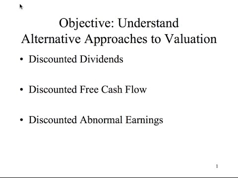 Valuation models compared