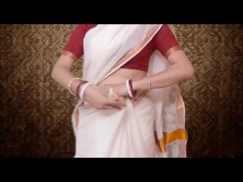 Kerala Wedding Saree Blouse Drapinghot Kerala Sari Choli Wearing