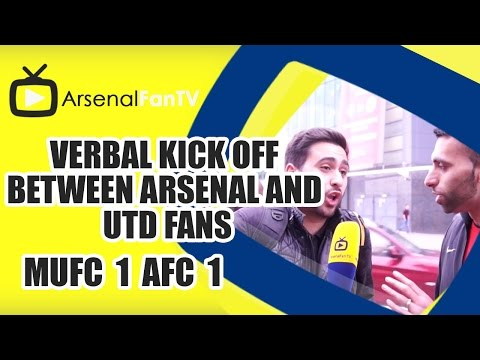 Verbal Kick Off Between Arsenal and Utd Fans | Man Utd 1 Arsenal 1