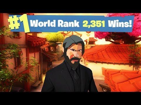 #1 Fortnite World Rank - 2,351 Solo Wins!