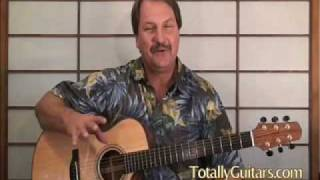 Acoustic Guitar lesson Preview Old Man Down The Road by John Fogerty
