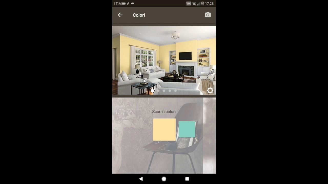 Una nuovissima applicazione per tablet semplice e intuitiva che permette di scegliere i colori, creare abbinamenti e vederli applicati sulle pareti di casa. App Realta Aumentata Simulazione Colore Pareti Youtube