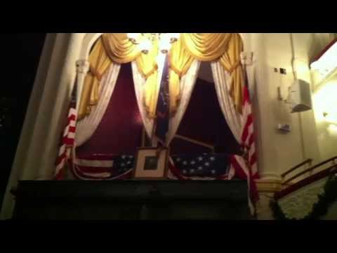 Lincoln's Assassination - The Balcony Area And Chair At Ford's Theater in Washington DC
