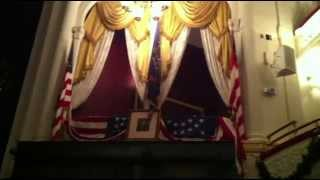 lincoln s assassination the balcony area and chair at ford s theater in washington dc