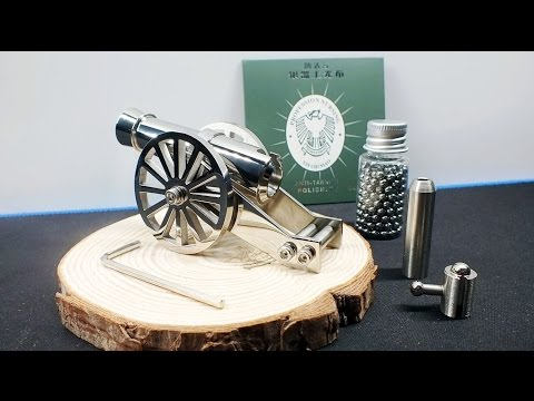 World smallest Mini Napoleon Cannon Toy - Not just Model - Full Stainless Steel