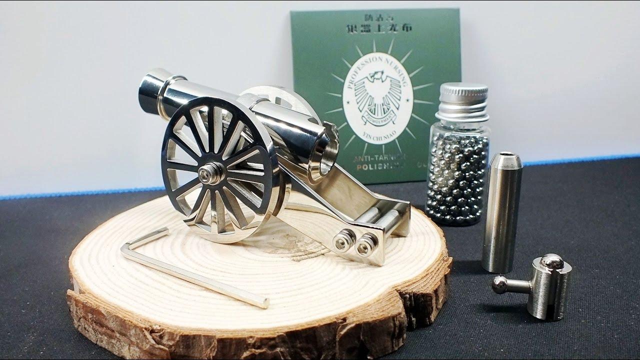 World Smallest Mini Napoleon Cannon Toy Not Just Model Full Stainless Steel