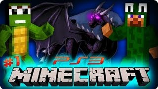 Minecraft Ps3 Gameplay - Part 1/25 - SURVIVING OUR FIRST NIGHT! (Playstation 3 Minecraft)