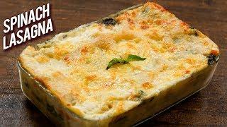 BEST Spinach Lasagna Recipe - How To Make Vegetable Lasagna At Home - Bhumika