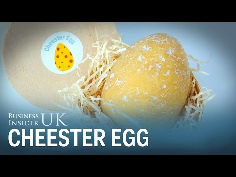 Melissa Forman in the Morning - An Easter Egg made entirely of CHEESE