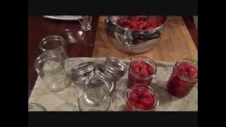 Canning Strawberries In Syrup! ( Recipe )