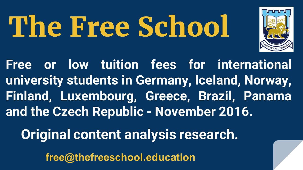 countries with free education for international students