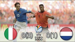 Италия Нидерланды 0 0 3 1 Обзор Матча Полуфинал Чемпионата Европы 29 06 2000 HD