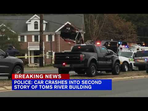 Car Crashes Into Second Floor Of Building In New Jersey