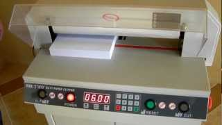 GUILLOTINE® EC17/EC19 Electric Paper Cutter Demo