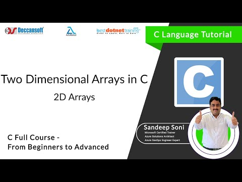 Learn Two Dimensional Array in C language