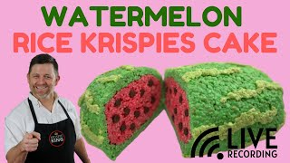 How to Make a Watermelon Rice Krispies Cake (LIVE RECORDING)