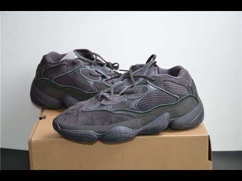 fd3ca7ce8 YEEZY DESERT RAT 500 UTILITY BLACK from www.goodsneaker.club - YouTube