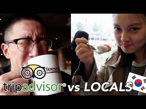 TRIP ADVISOR vs LOCALS! What to do in KOREA! (Itaewon)