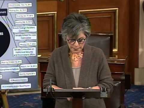 Senator Boxer Denounces the GOP's Benghazi Witch Hunt