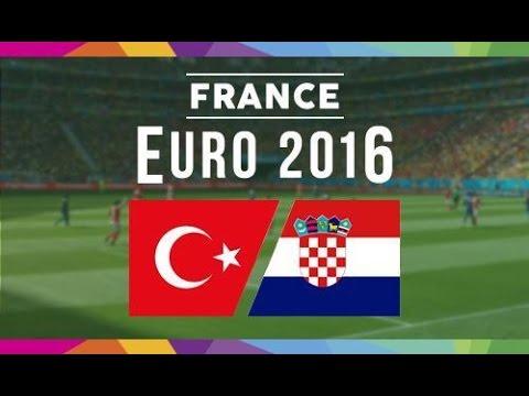 TÜRKİYE vs HIRVATİSTAN - EURO 2016