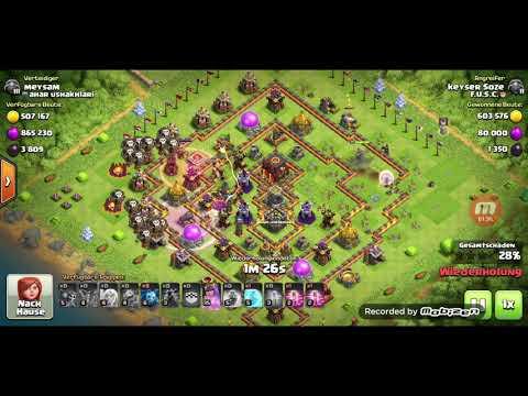 Clash of Clans- Queenwalk + laloon 1.1 Millionen gold ,900 000 Elixir und 5000 dunkle Elixier