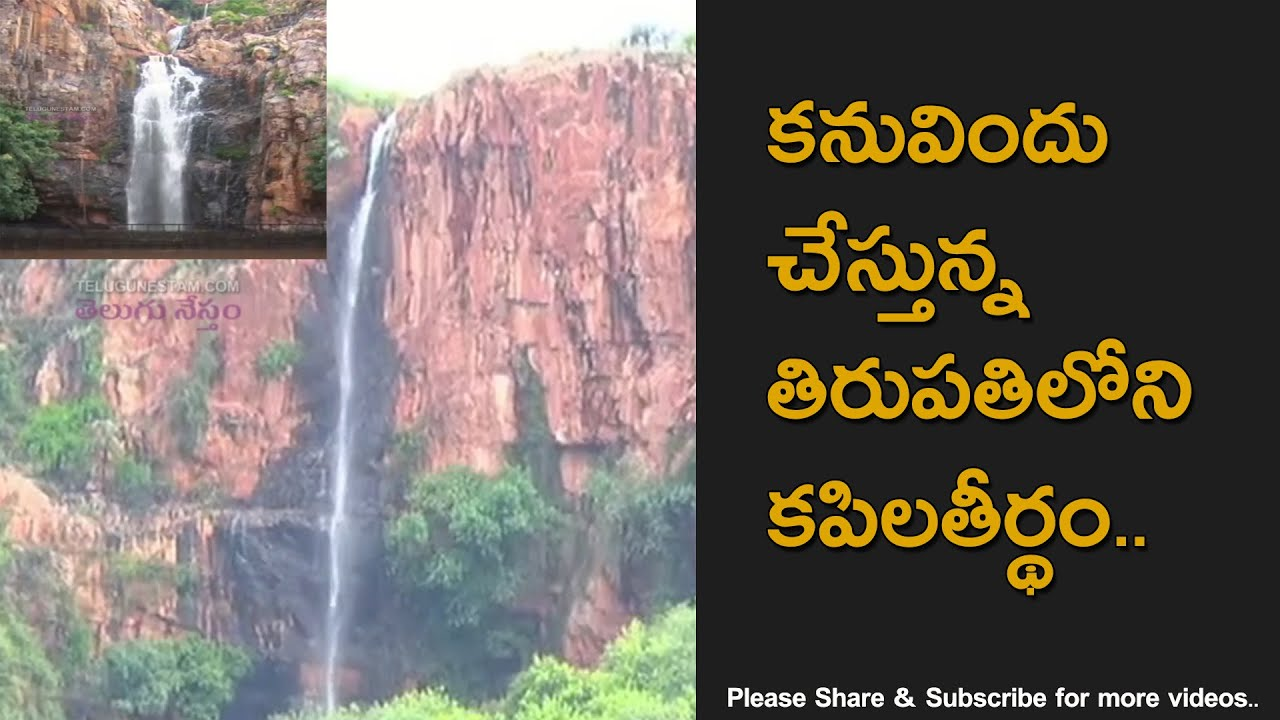 Kapila Theertham Waterfall Flows After Heavy Rains in Tirumala