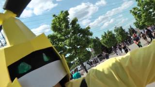 Medabots!! Metabee and (a very shy) Cyandog! Anime cosplay