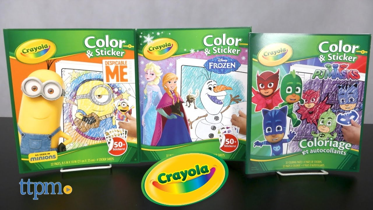 Color Sticker Disney Frozen Despicable Me Minion Made PJ Masks From Crayola