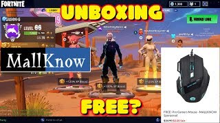 MALLKNOW LIVRE FORTNITE GAMING MOUSE UNBOXING E REVISÃO