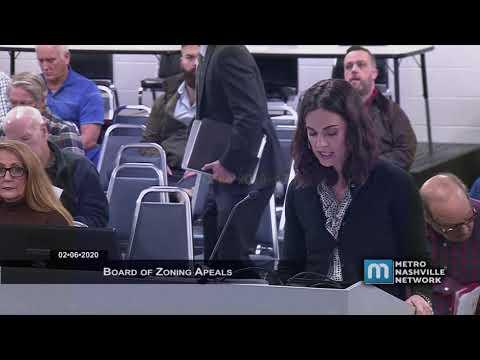 02/06/20 Board Of Zoning Appeals
