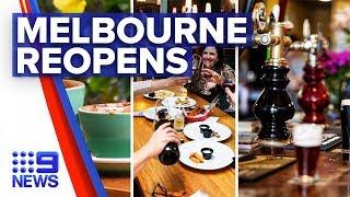 Coronavirus: Victorian pubs, cafes and restaurants reopen tomorrow | Nine News Australia