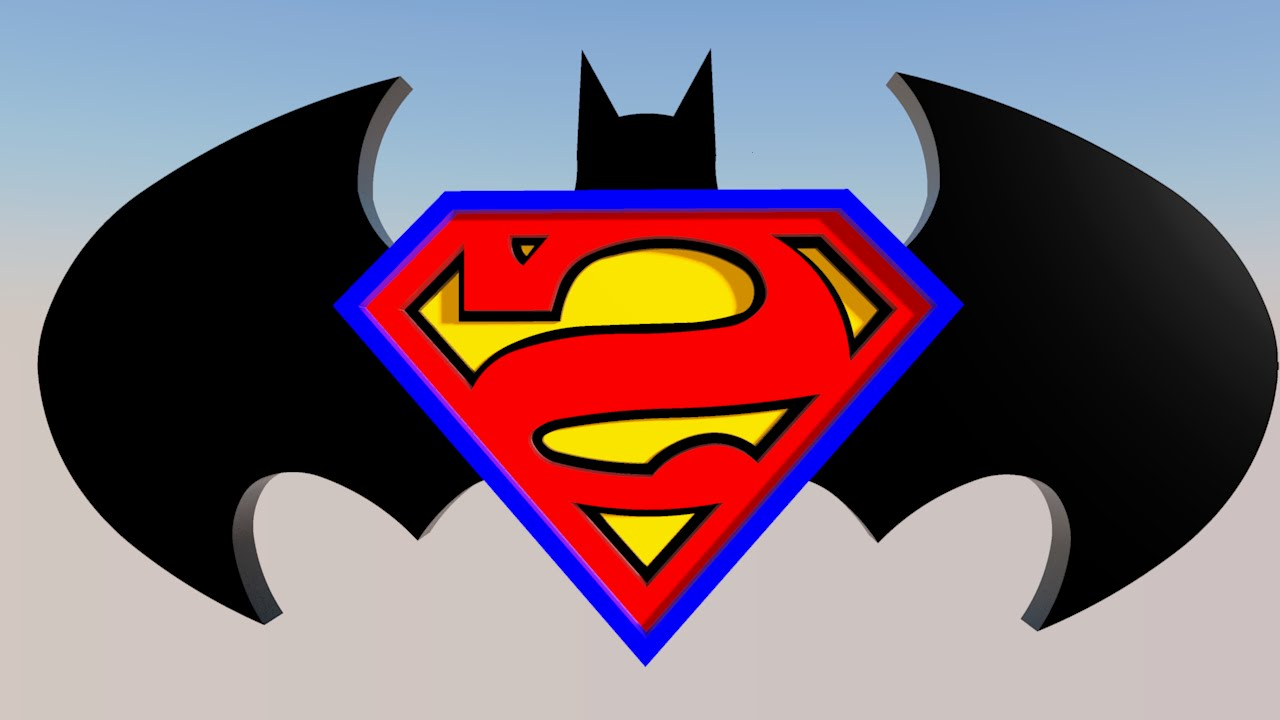 supermanbatman logo sketchup 3d model youtube