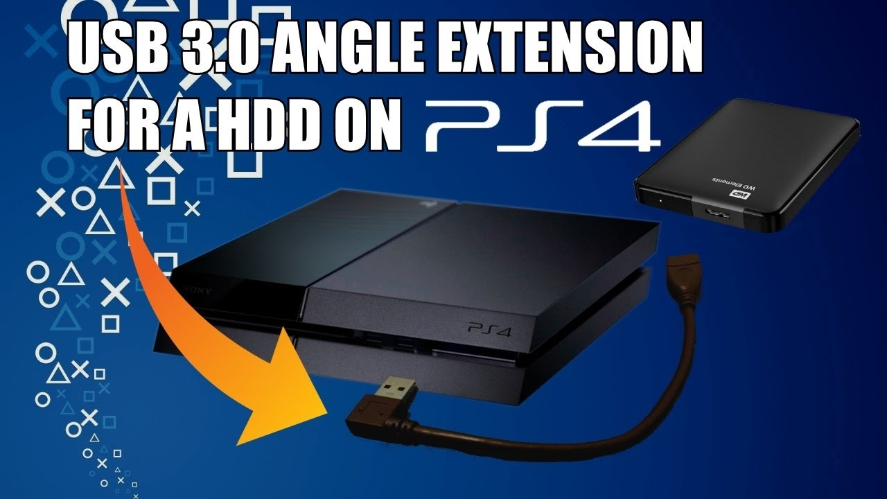 Usb 3 0 Angle Extension For A External Hard Drive On Ps4
