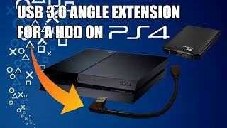 USB 3.0 Angle Extension For A External Hard Drive On PS4