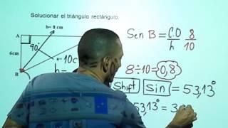 Solución del triángulo rectángulo