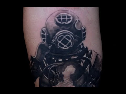 Diver Tattoo Time Lapse