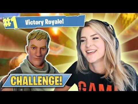 THE DEFAULT SKIN CHALLENGE! (Fortnite: Battle Royale) | KittyPlays