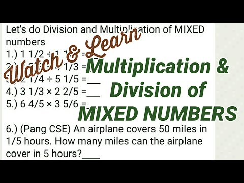 MIXED NUMBERS | Division And Multiplication | FRACTIONS [CSE LET BFP NAPOLCOM Math Exams]
