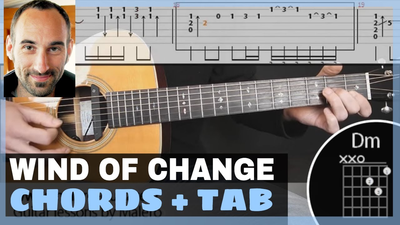 Scorpions Wind Of Change Play Along Guitar With Tab Chords Youtube