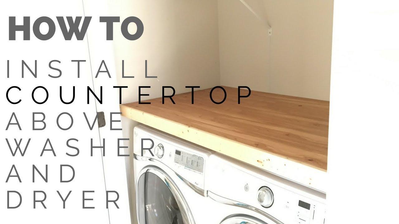Install Laundry Closet Countertop