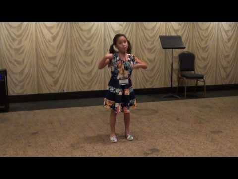 Nikita singing Shy from Once Upon a Mattress at American Guild of Music
