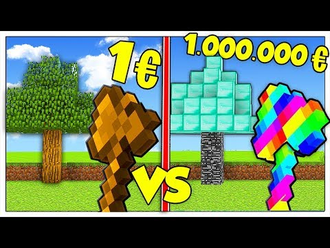 ASCIA DA 1 EURO CONTRO ASCIA DA 1 MILIONE! - Minecraft ITA