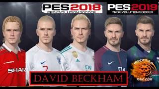 David Beckham Through Time For PES 18/19 ||Download facepack||